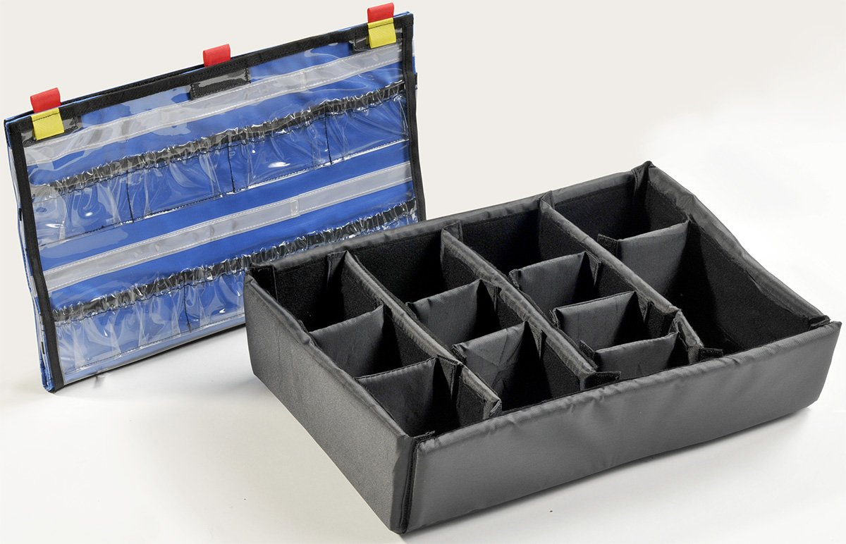 Pelican Cases 1505EMS Accessory Set Lid Organizer and Divider Set for 1500EMS PC1505EMS