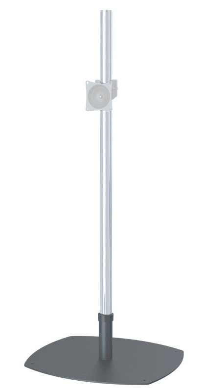 Low-Profile Single Pole Floor Stand Base with VPM VESA Mount