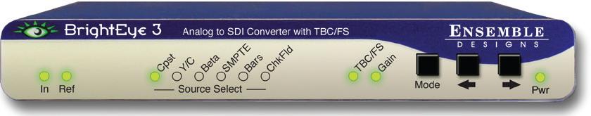 Analog to SDI Converter with TBC/Frame Sync