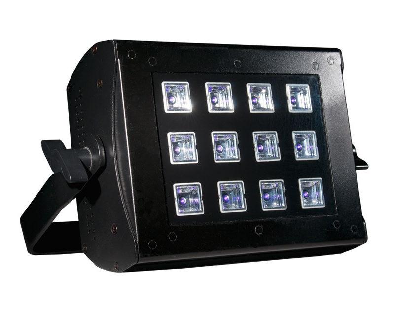 57° beam LED Black Light 12 x 3 watt Leds, DMX