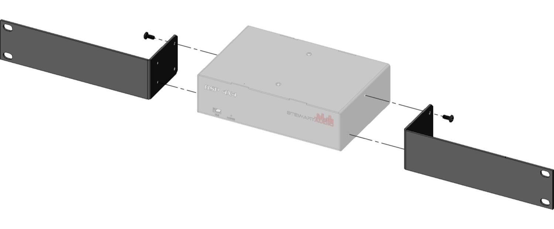 Single Rack Mount Kit for DSP4X4