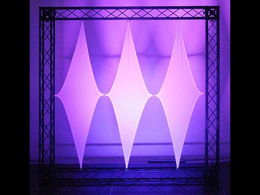 "Scrim Werks 48""x19"" Single Diamond Decor Panel"