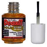 Caig Labs G100L-2DB DeoxIT Gold, 100% Solution, 7.4 ml, Brush Applicator G100L-2DB