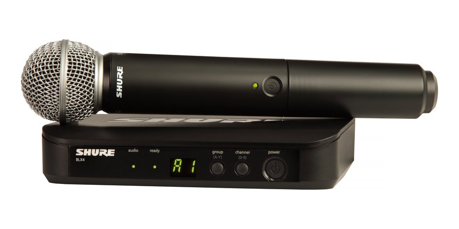 Handheld Wireless System With SM58 Handheld Microphone And 542 - 572 MHz