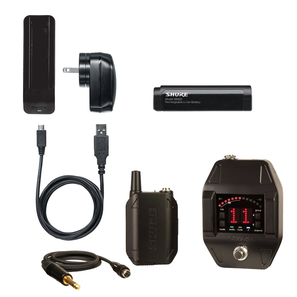 GLX-D Series Digital Wireless Guitar/Bass Pedal System with SB902 Rechargeable Li-Ion Battery and SBC902 Charging Dock