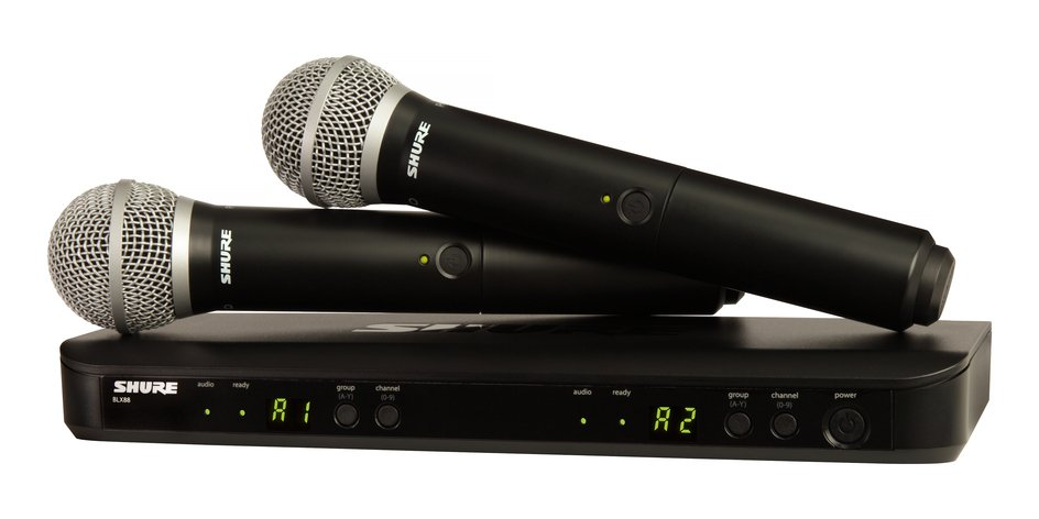 Dual Channel Handheld Wireless System With Two PG58 Handheld Microphones