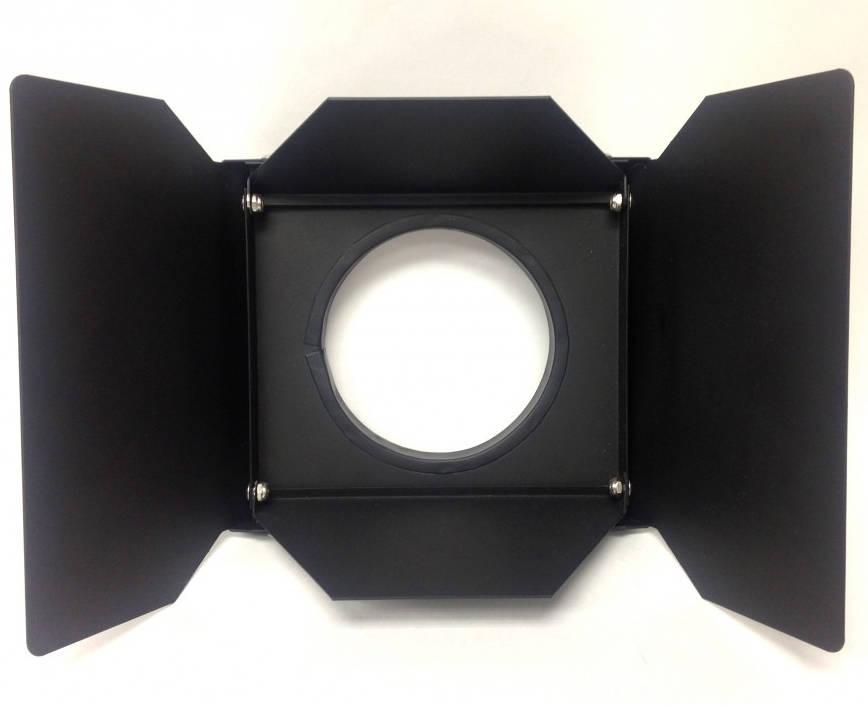 Lightweight 4 Leaf Barndoor Set for Hurricane Jr. in Black
