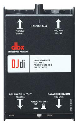 DBX DJDI 2-Channel Passive Direct Box That Converts Unbalanced Signal DJDI