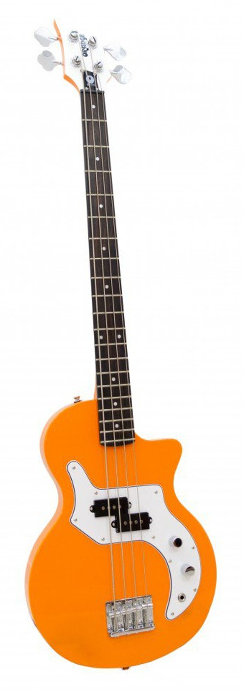 4 String Electric Bass with Orange Finish