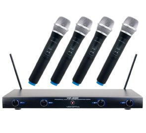 Professional Quad VHF Wireless Microphone System