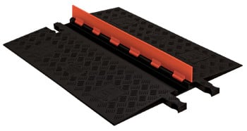 Low Profile 2-Channel Cable Protector with ADA Ramps