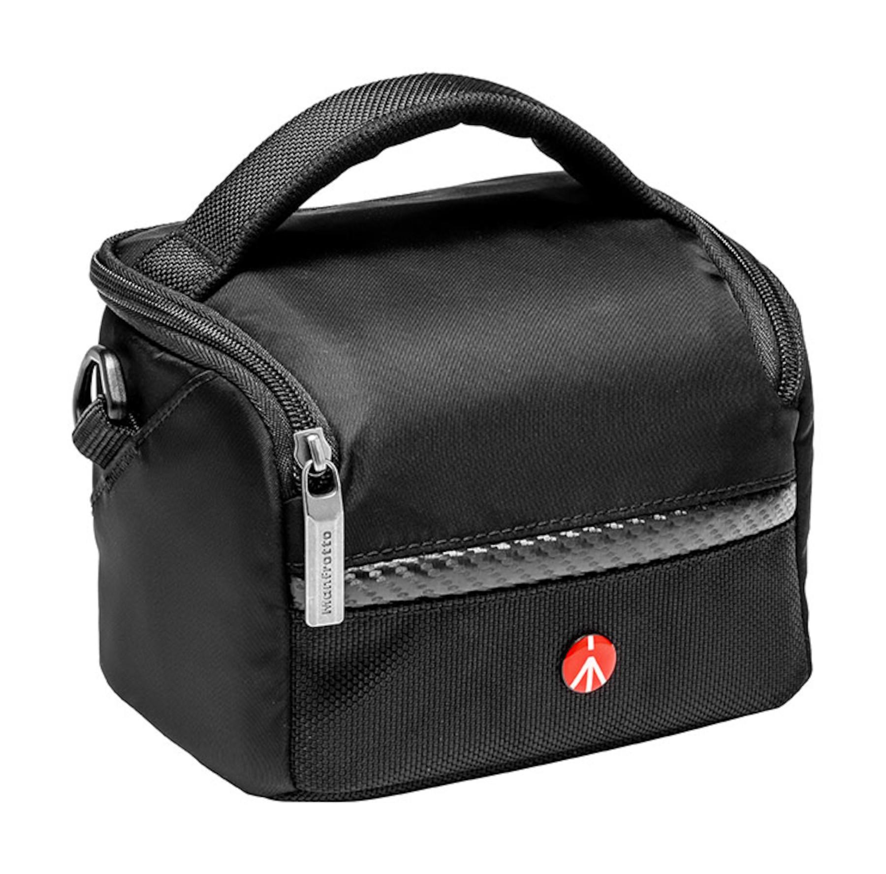 Black Nylon Shoulder Bag for Mirrorless Camera and 2 Lenses