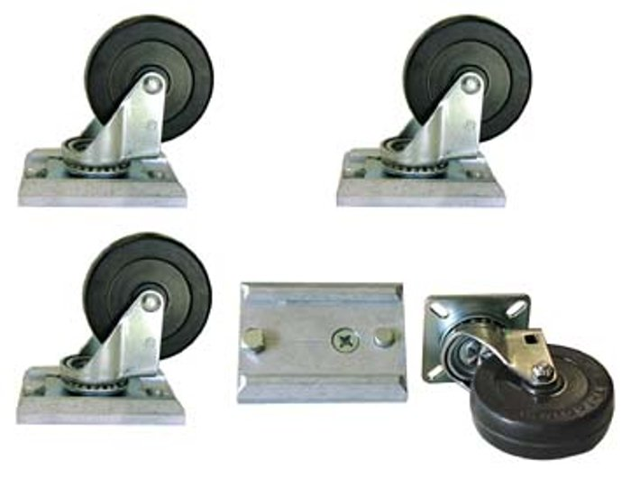 """Mesa Boogie Ltd Y.WH-3R  3"""" Track-Loc Removable Caster Set with Mounting Plates Y.WH-3R"""