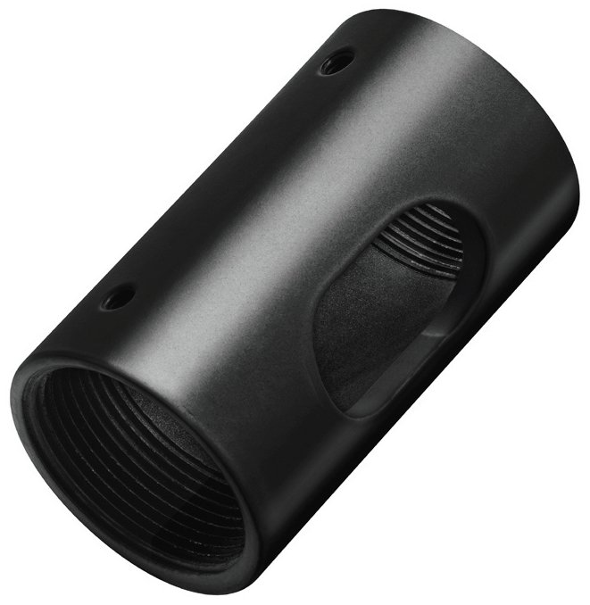 Female to Female NPT Pipe Coupler in Black