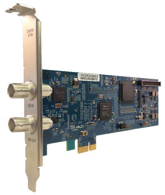Single Input SDI or DVB-ASI Video Capture Card