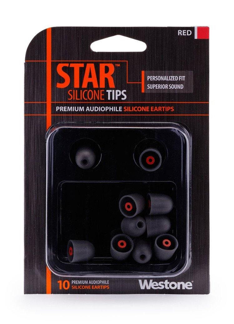 10 Pack of Red STAR Silicone Eartips