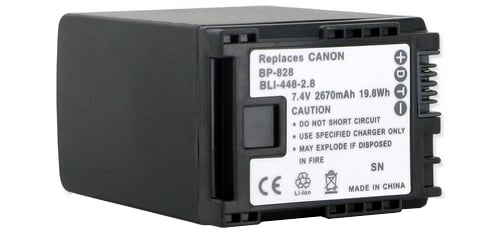 Canon BP828 Li-Ion Replacement Battery