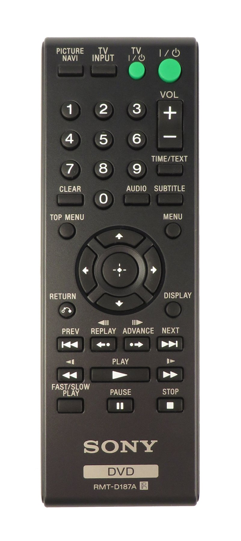RMTD187A Remote for DVPSR200P, DVPCX985V, DVPCX777ES, DVPNS611HP