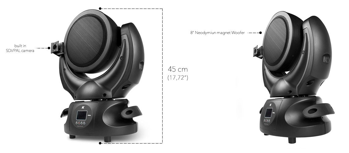 "8"" Coaxial Moving Audio Head With Onboard Camera Monitoring"