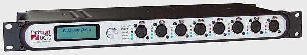 Pathway Connectivity 6401 Pathport Octo 8-port Node with rear XLR5F P6401