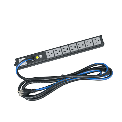 Slim Power Strip, 7 Outlets, 15A