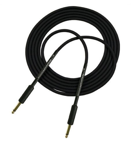 """6 ft Guitar Cable with 1/4"""" Connectors on Both Ends, Black"""