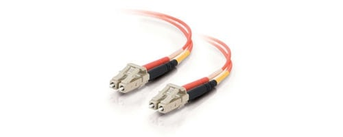 1m LC-LC 62.5/125 OM1 Duplex Multimode PVC Fiber Optic Cable
