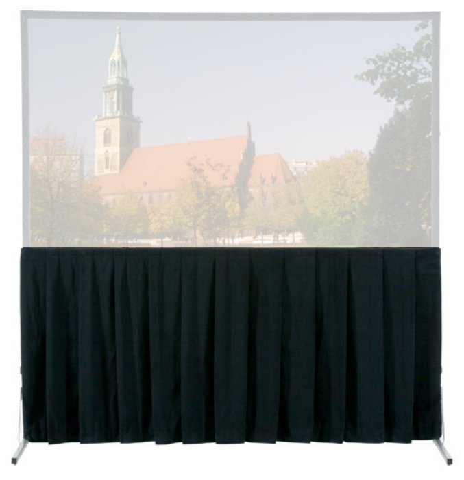 "Ultra Velour Heavy Duty Fast-Fold Skirt for 11'6"" x 15' Screens"