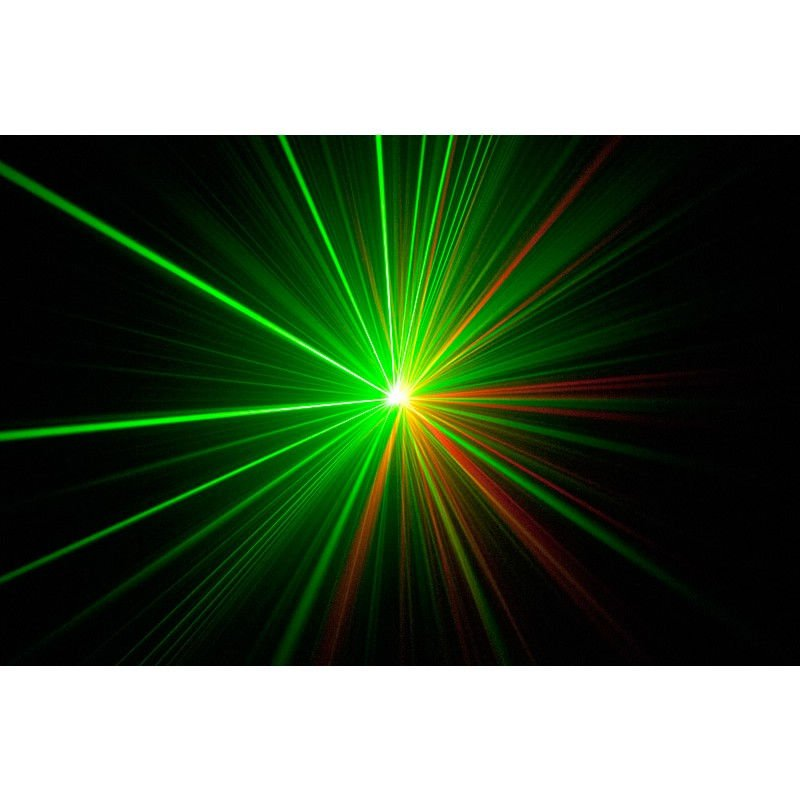 Red & Green Laser Beams with IR Control