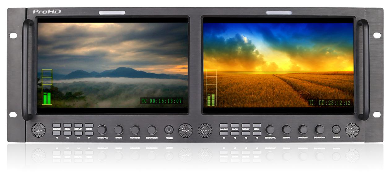 Display Monitor, Dual 9-In Rack