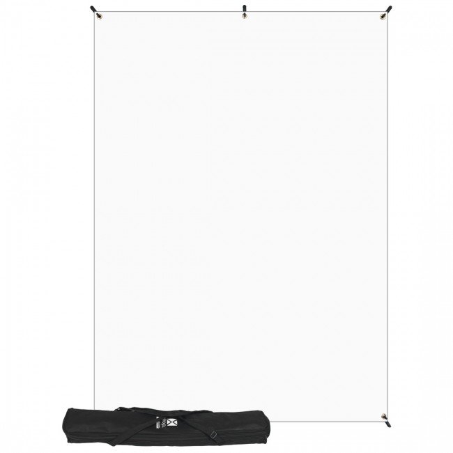 with 5' x 7' White Backdrop (1.5 x 2.1 m)
