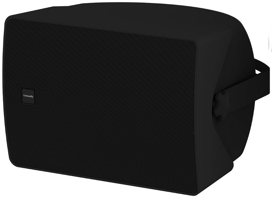 "Commercial Design 8"" 2-Way 60 Watt Full-Range Surface Mount Loudspeaker in Black"