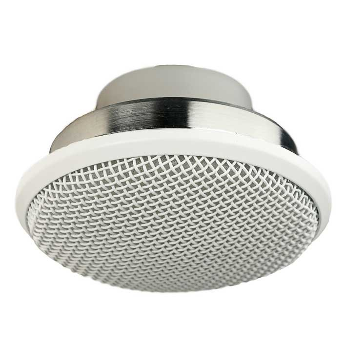 Flush Mount, High Output Ceiling Mic For Distance Miking, White