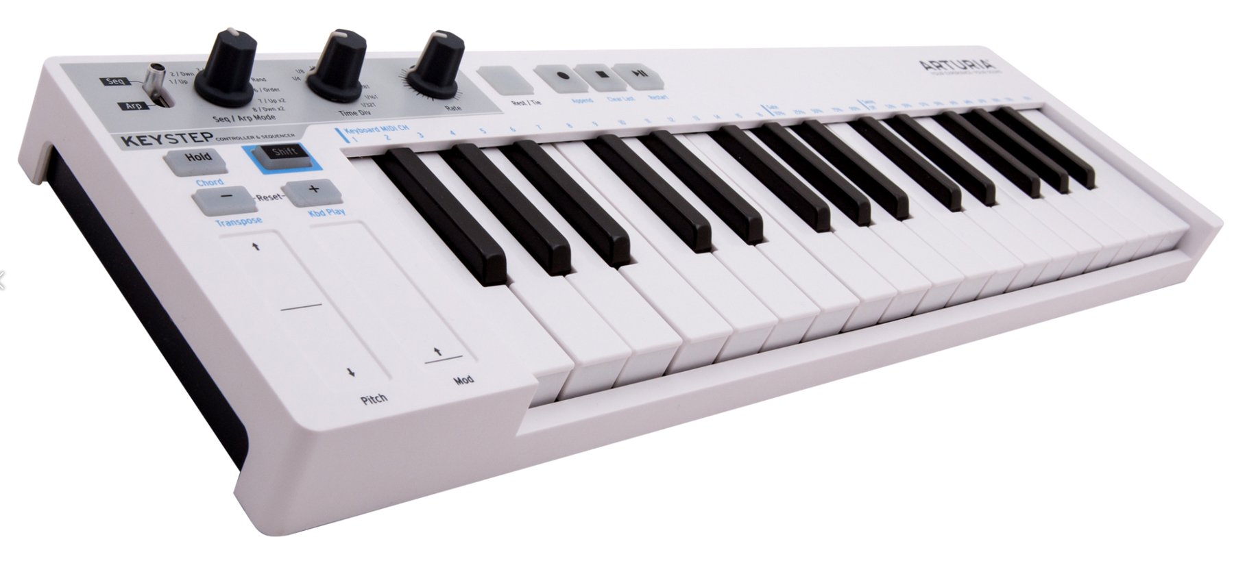 Slim 32-Key USB Controller with Sequencer & Arpeggiator
