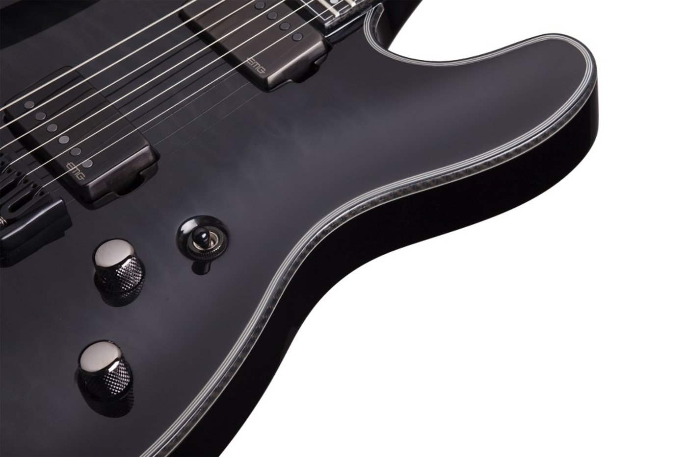 Electric Guitar, Trans Black Burst Finish