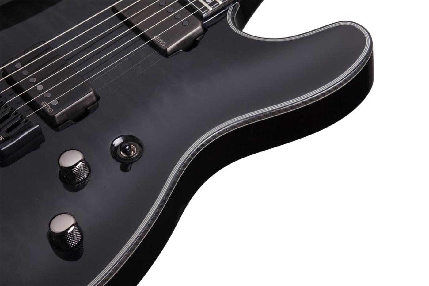 7 String Electric Guitar, Trans Black Burst Finish