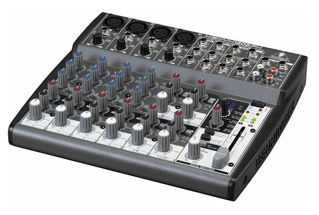 12-Input (4 mic, 4 stereo) 2-Buss Plus Digital Effects Send with Rotary Controls