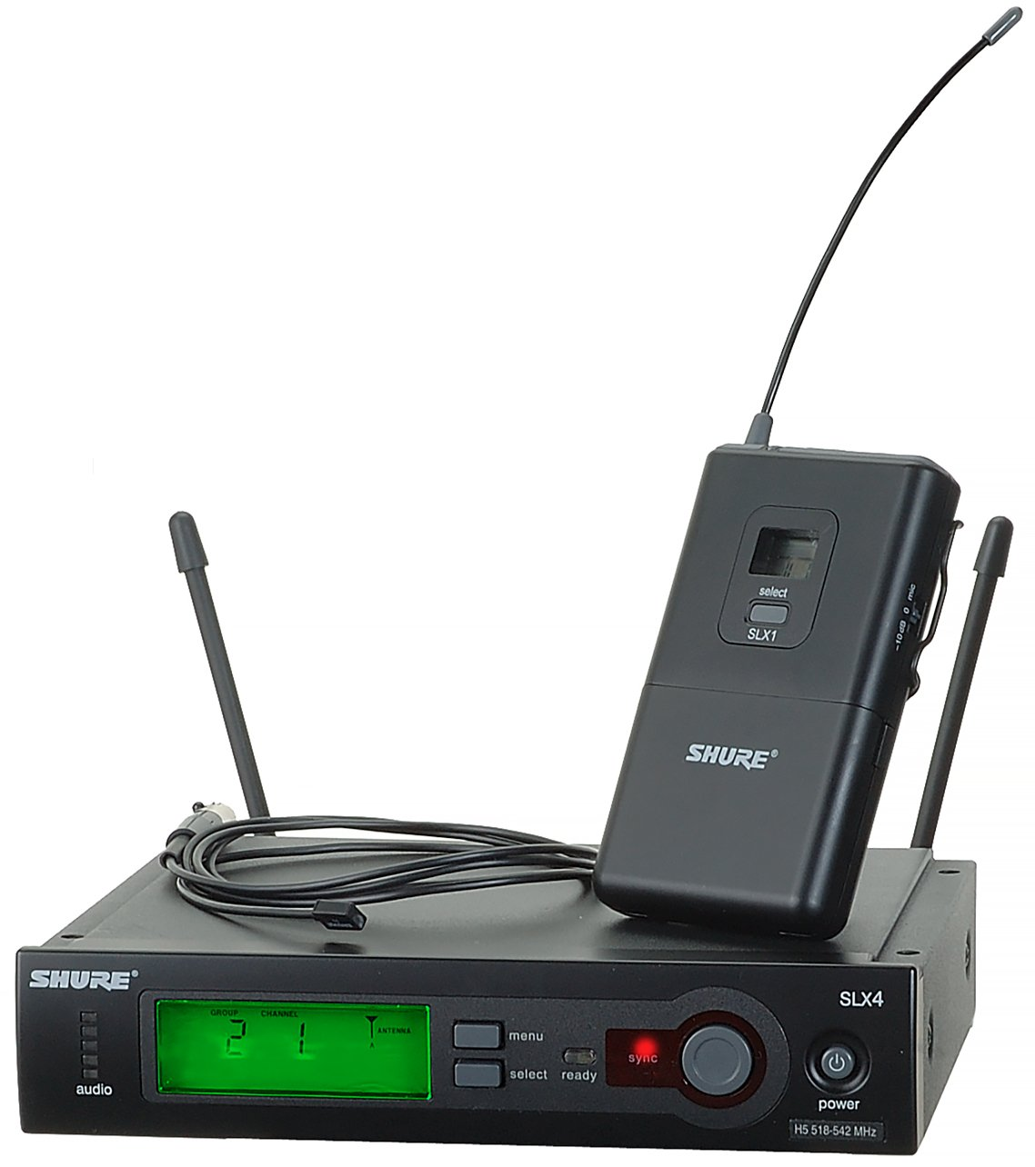 Wireless System With Wl93 Lavalier Microphone By Shure Slx14 93 Wiring Diagrams