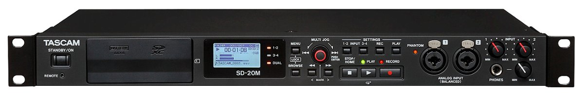 Tascam SD-20M Solid State Recorder With Microphone Inputs SD-20M