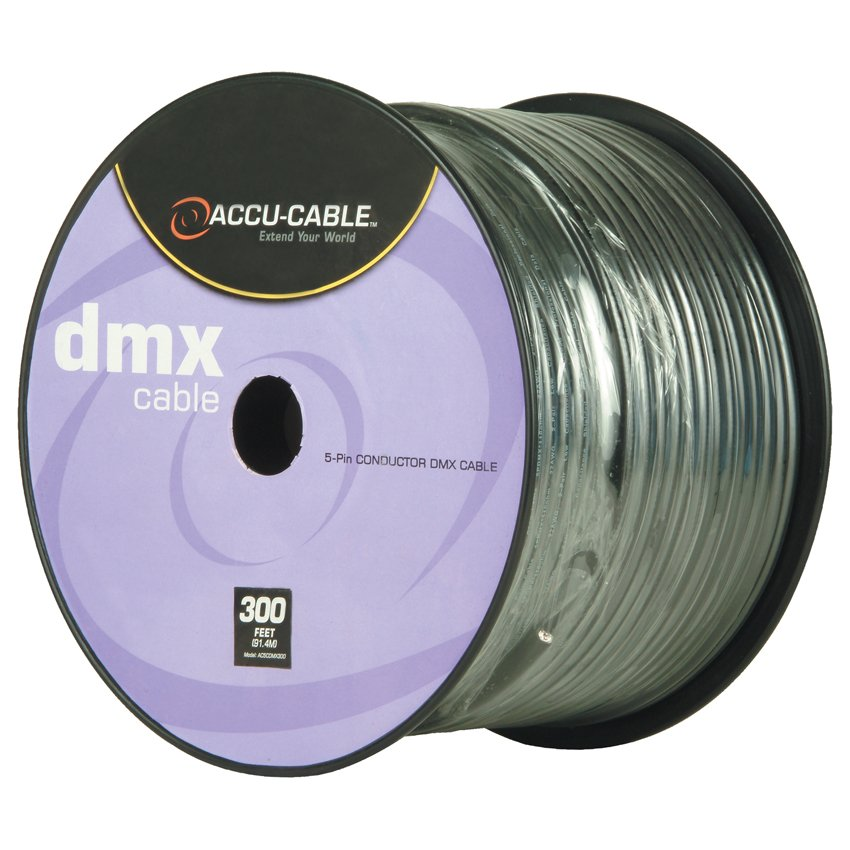 300 ft. Spool of 5-Pin DMX Cable