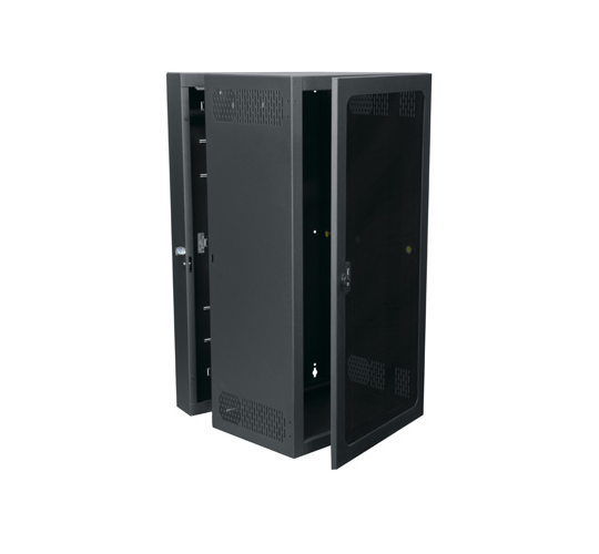 "26RU, 22"" Deep Wall-Mount Rack with Plexi Front Door"