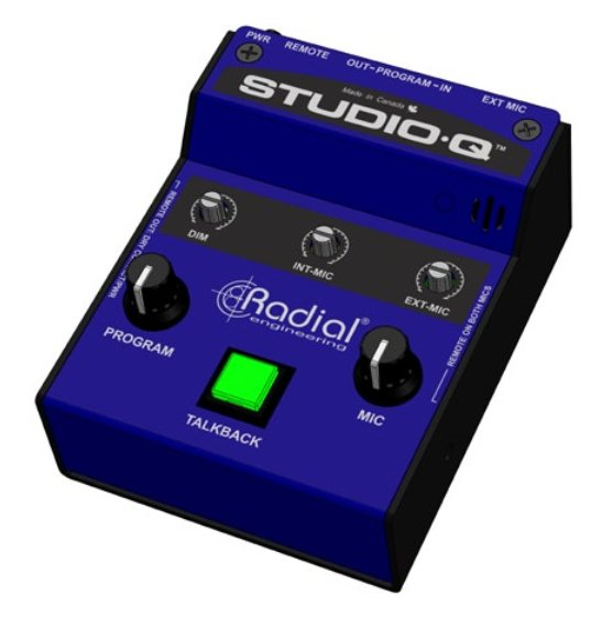 Radial Engineering Studio-Q Studio Talkback Interface with External Mic Input STUDIO-Q