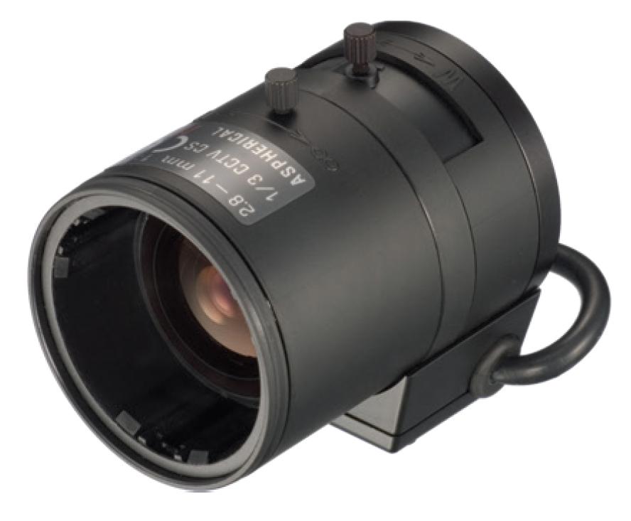"""1/3"""" 2.8-11mm DC-iris Aspherical IR Corrected Lens with CS Mount"""
