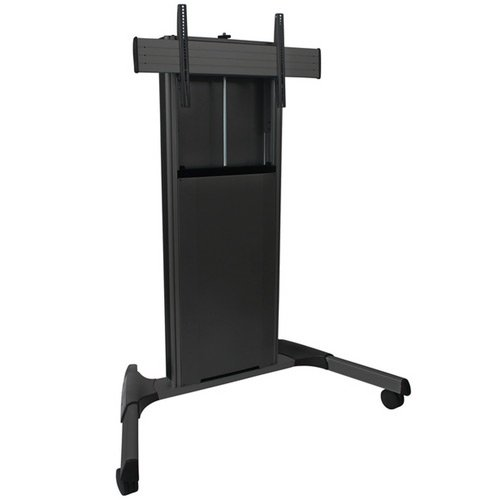 Manual Height Adjustable Mobile AV Cart
