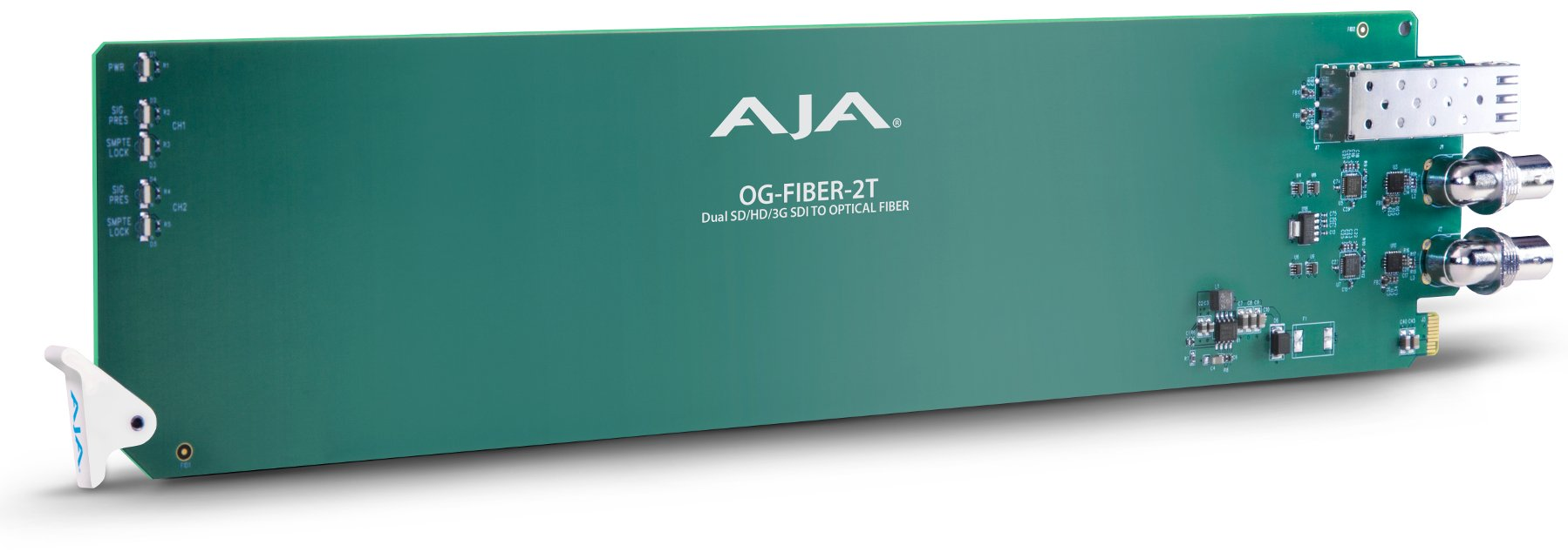 AJA Video Systems Inc OG-FIBER-2T  2-Channel openGear SDI to Fiber Converter OG-FIBER-2T