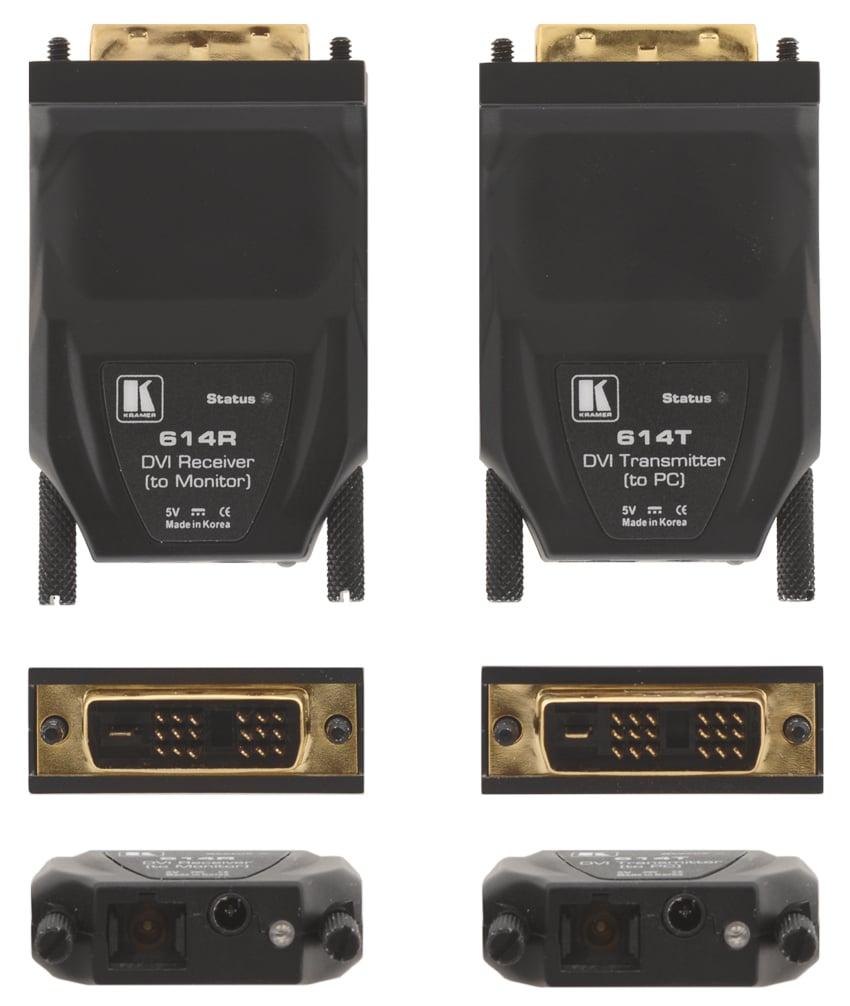 Single Fiber Detachable DVI Optical Transmitter and Receiver