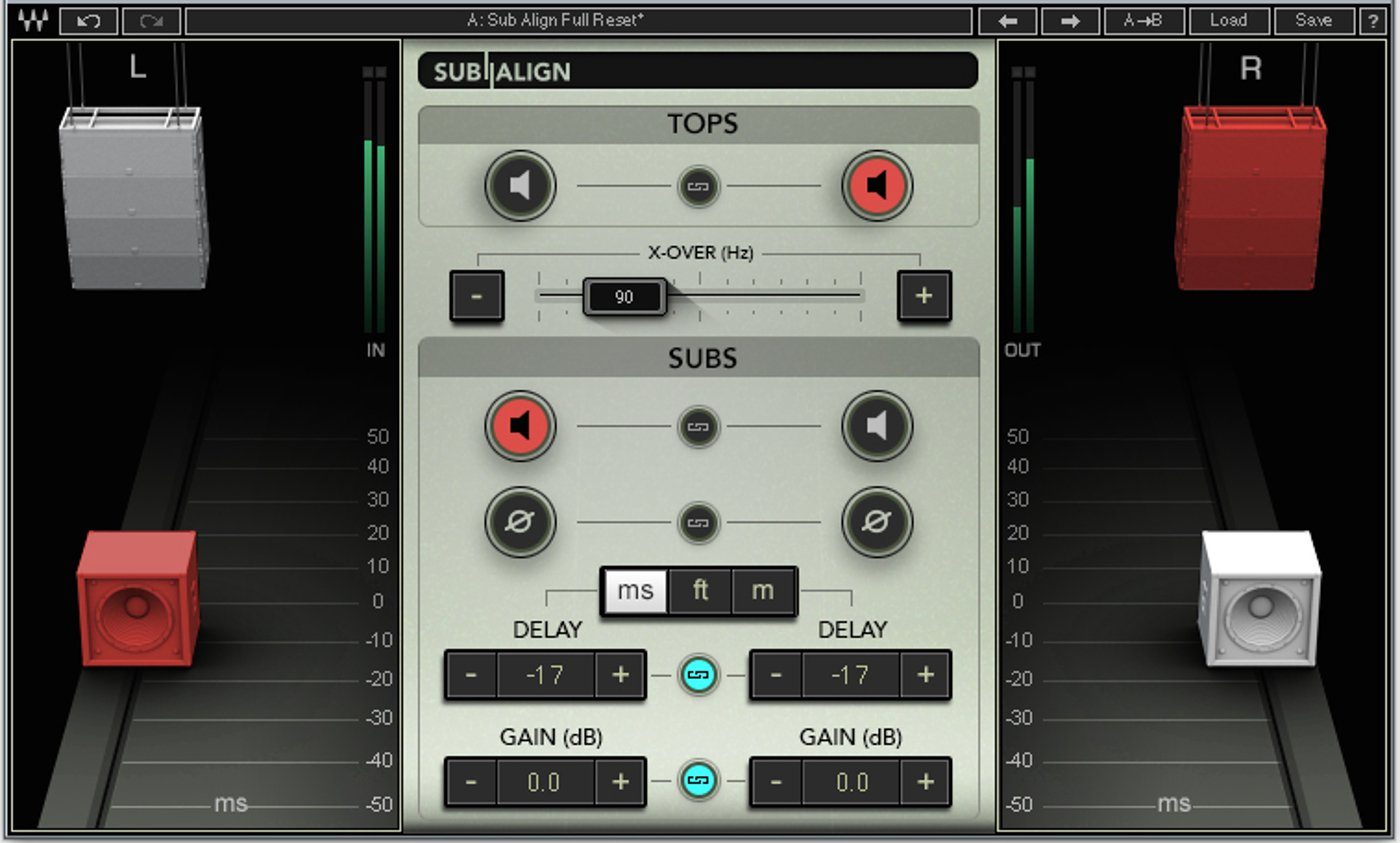 Subwoofer Alignment Plugin for PA Systems
