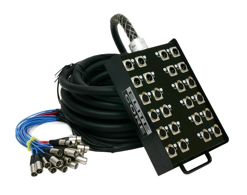 150 ft 16-Channel Fan-to-Box Stage Snake with 8 XLR Returns
