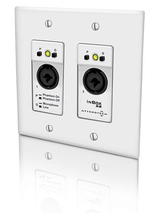 2 Channel 2 Gang US Wallplate With XLR And TRS Inputs, POE