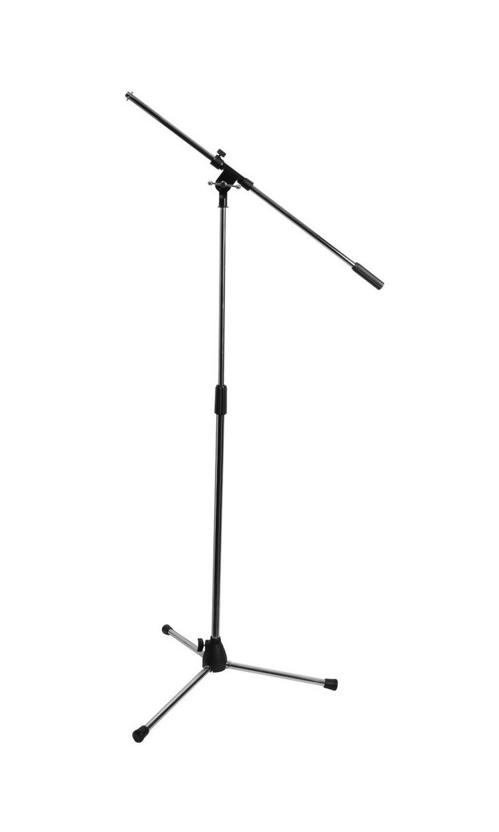 "36""-63"" Microphone Stand With 30"" Boom And Euro-Style Tripod Base"